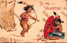 xrt599129 - Valentines Day Post Card Old Vintage Antique Postcard