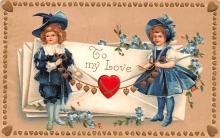 xrt599131 - Valentines Day Post Card Old Vintage Antique Postcard
