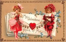 xrt599133 - Valentines Day Post Card Old Vintage Antique Postcard