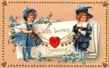 xrt599135 - Valentines Day Post Card Old Vintage Antique Postcard