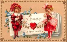 xrt599137 - Valentines Day Post Card Old Vintage Antique Postcard