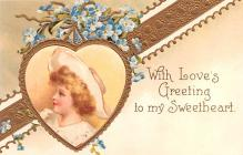 xrt599149 - Valentines Day Post Card Old Vintage Antique Postcard