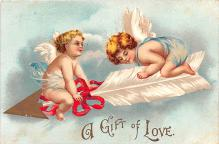 xrt599151 - Valentines Day Post Card Old Vintage Antique Postcard