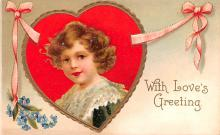 xrt599153 - Valentines Day Post Card Old Vintage Antique Postcard