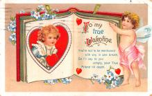 xrt599155 - Valentines Day Post Card Old Vintage Antique Postcard