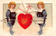xrt599157 - Valentines Day Post Card Old Vintage Antique Postcard