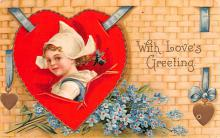 xrt599159 - Valentines Day Post Card Old Vintage Antique Postcard