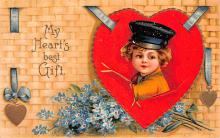 xrt599161 - Valentines Day Post Card Old Vintage Antique Postcard