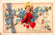 xrt599163 - Valentines Day Post Card Old Vintage Antique Postcard