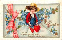 xrt599165 - Valentines Day Post Card Old Vintage Antique Postcard
