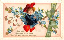 xrt599167 - Valentines Day Post Card Old Vintage Antique Postcard