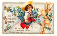 xrt599169 - Valentines Day Post Card Old Vintage Antique Postcard