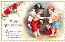 xrt599171 - Valentines Day Post Card Old Vintage Antique Postcard