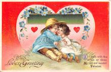 xrt599173 - Valentines Day Post Card Old Vintage Antique Postcard