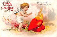 xrt599175 - Valentines Day Post Card Old Vintage Antique Postcard