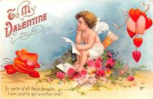 xrt599177 - Valentines Day Post Card Old Vintage Antique Postcard