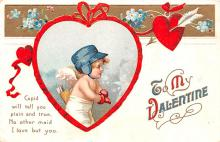 xrt599179 - Valentines Day Post Card Old Vintage Antique Postcard