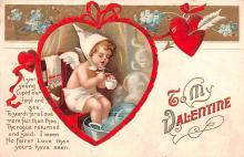 xrt599181 - Valentines Day Post Card Old Vintage Antique Postcard