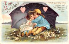 xrt599189 - Valentines Day Post Card Old Vintage Antique Postcard