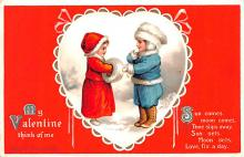 xrt599191 - Valentines Day Post Card Old Vintage Antique Postcard