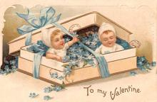 xrt599201 - Valentines Day Post Card Old Vintage Antique Postcard