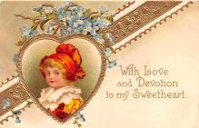xrt599203 - Valentines Day Post Card Old Vintage Antique Postcard