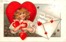 xrt599205 - Valentines Day Post Card Old Vintage Antique Postcard