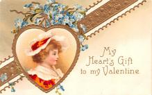xrt599207 - Valentines Day Post Card Old Vintage Antique Postcard