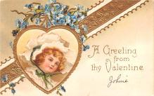 xrt599209 - Valentines Day Post Card Old Vintage Antique Postcard