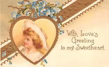xrt599211 - Valentines Day Post Card Old Vintage Antique Postcard