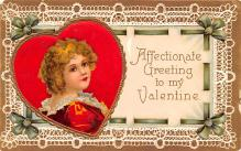 xrt599215 - Valentines Day Post Card Old Vintage Antique Postcard