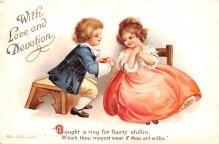 xrt599217 - Valentines Day Post Card Old Vintage Antique Postcard