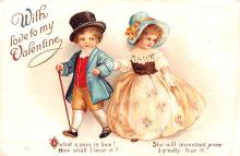 xrt599219 - Valentines Day Post Card Old Vintage Antique Postcard