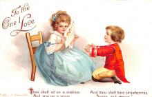 xrt599221 - Valentines Day Post Card Old Vintage Antique Postcard