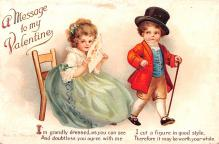 xrt599223 - Valentines Day Post Card Old Vintage Antique Postcard