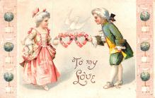xrt599229 - Valentines Day Post Card Old Vintage Antique Postcard
