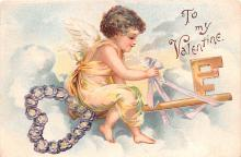 xrt599231 - Valentines Day Post Card Old Vintage Antique Postcard