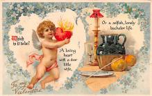 xrt599237 - Valentines Day Post Card Old Vintage Antique Postcard