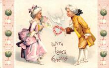 xrt599239 - Valentines Day Post Card Old Vintage Antique Postcard