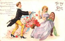 xrt599243 - Valentines Day Post Card Old Vintage Antique Postcard