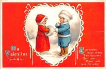 xrt599247 - Valentines Day Post Card Old Vintage Antique Postcard