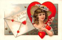 xrt599249 - Valentines Day Post Card Old Vintage Antique Postcard