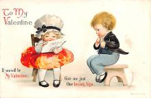 xrt599251 - Valentines Day Post Card Old Vintage Antique Postcard
