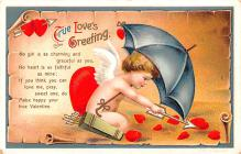 xrt599255 - Valentines Day Post Card Old Vintage Antique Postcard