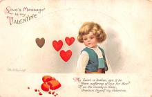 xrt599259 - Valentines Day Post Card Old Vintage Antique Postcard