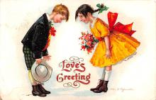 xrt599275 - Valentines Day Post Card Old Vintage Antique Postcard