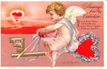 xrt599277 - Valentines Day Post Card Old Vintage Antique Postcard