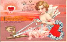 xrt599279 - Valentines Day Post Card Old Vintage Antique Postcard