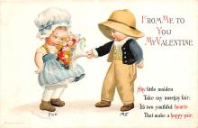 xrt599281 - Valentines Day Post Card Old Vintage Antique Postcard