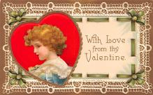 xrt599283 - Valentines Day Post Card Old Vintage Antique Postcard